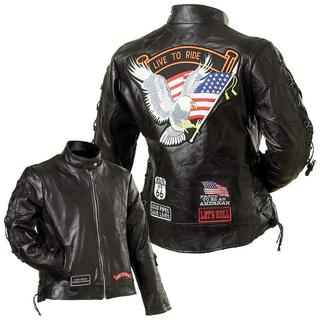 Genuine Leather Motorcycle Jacket (Size1: S)