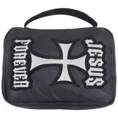 LEATHER BIBLE COVER W/ PATCHES