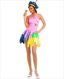 "Sexy ""Ice Cream Girl"" Costume w/ Hat"