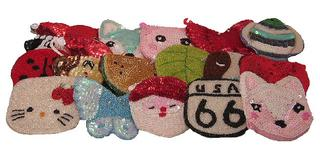 Sequins and Beaded Characters Coin Purses Assorted Sample Pack of 10