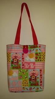 Strawberry Shortcake Summer Patch Cotton Tote Bag for Young Girls