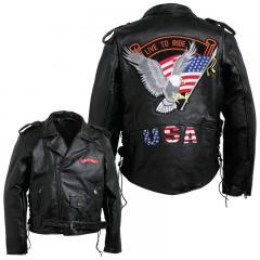 Buffalo Leather Mens Jacket (Size: `XXL)