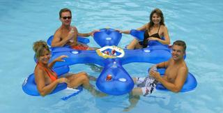 Aqua Floating Lounge with Cooler