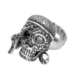 Stretchy Sea Robber Skull Ring