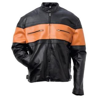 Genuine Leather Mens Jacket (Size: `M)