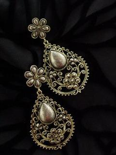 Tear Drop Antique Earring