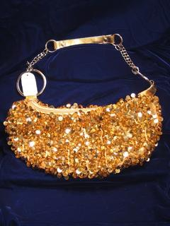 Gold Sequin Evening Handbag