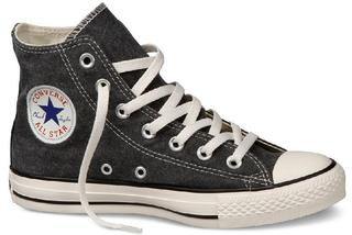 Converse All Star Stonewashed Canvas Hi Shoes Jet Black