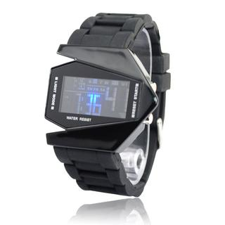 Free Shipping Cool Screen Touch LED Binary Wrist Watch with golden case for Men